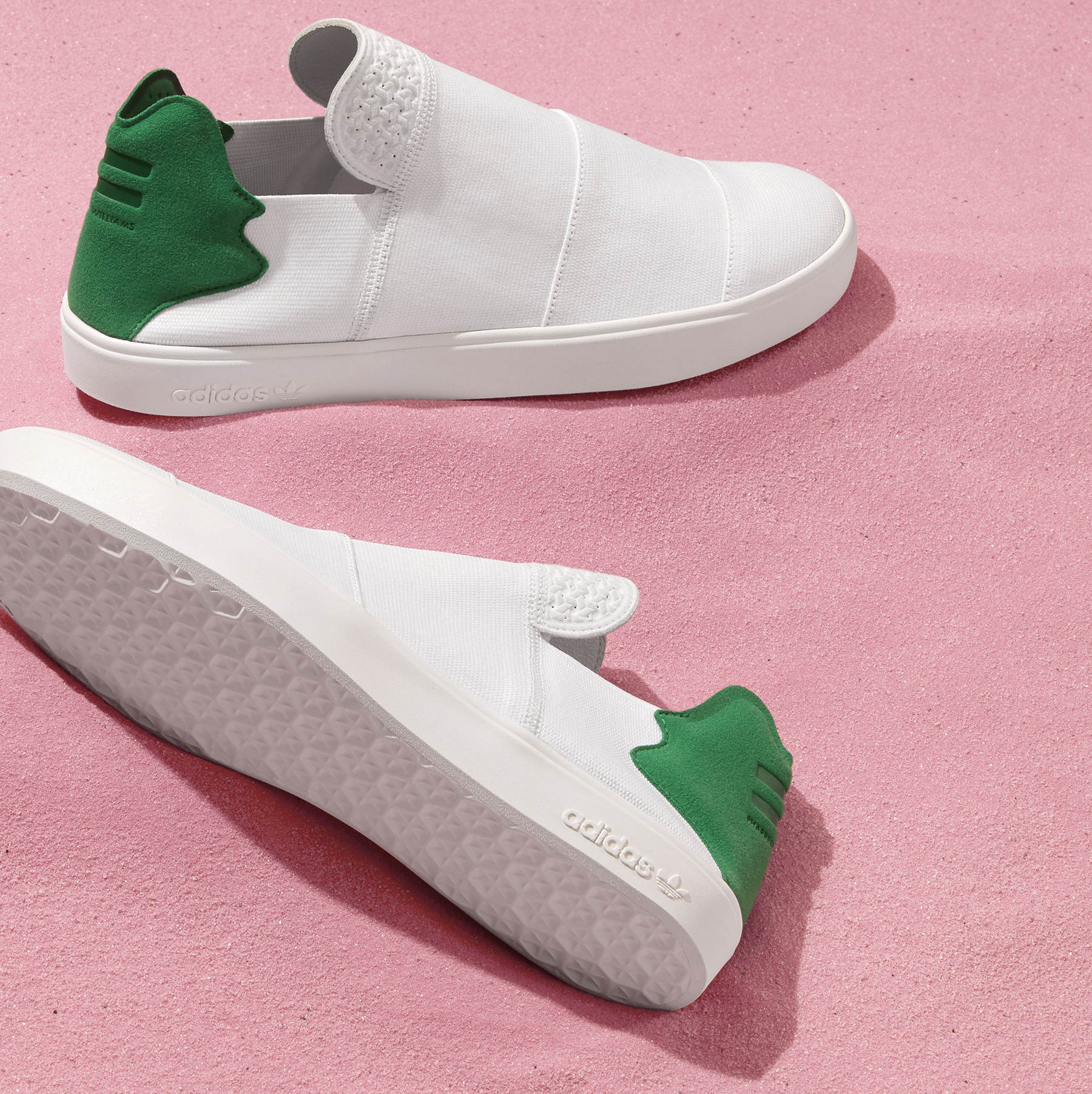 buy popular e9573 3dffb The Elastic Slip On sneakers in white. Photo by Viviane Sassen for Adidas.