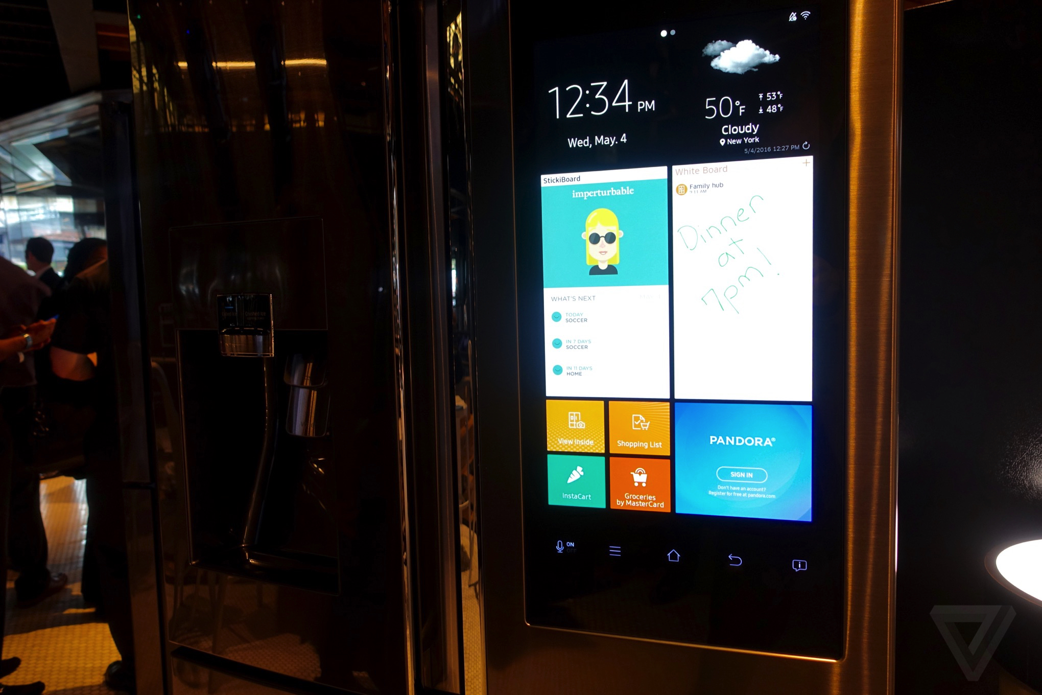 Samsungs Family Hub Smart Fridge Is Ridiculous Wonderful And Slow Refrigerator Door Open Alarm Circuit Electronic Projects The Verge