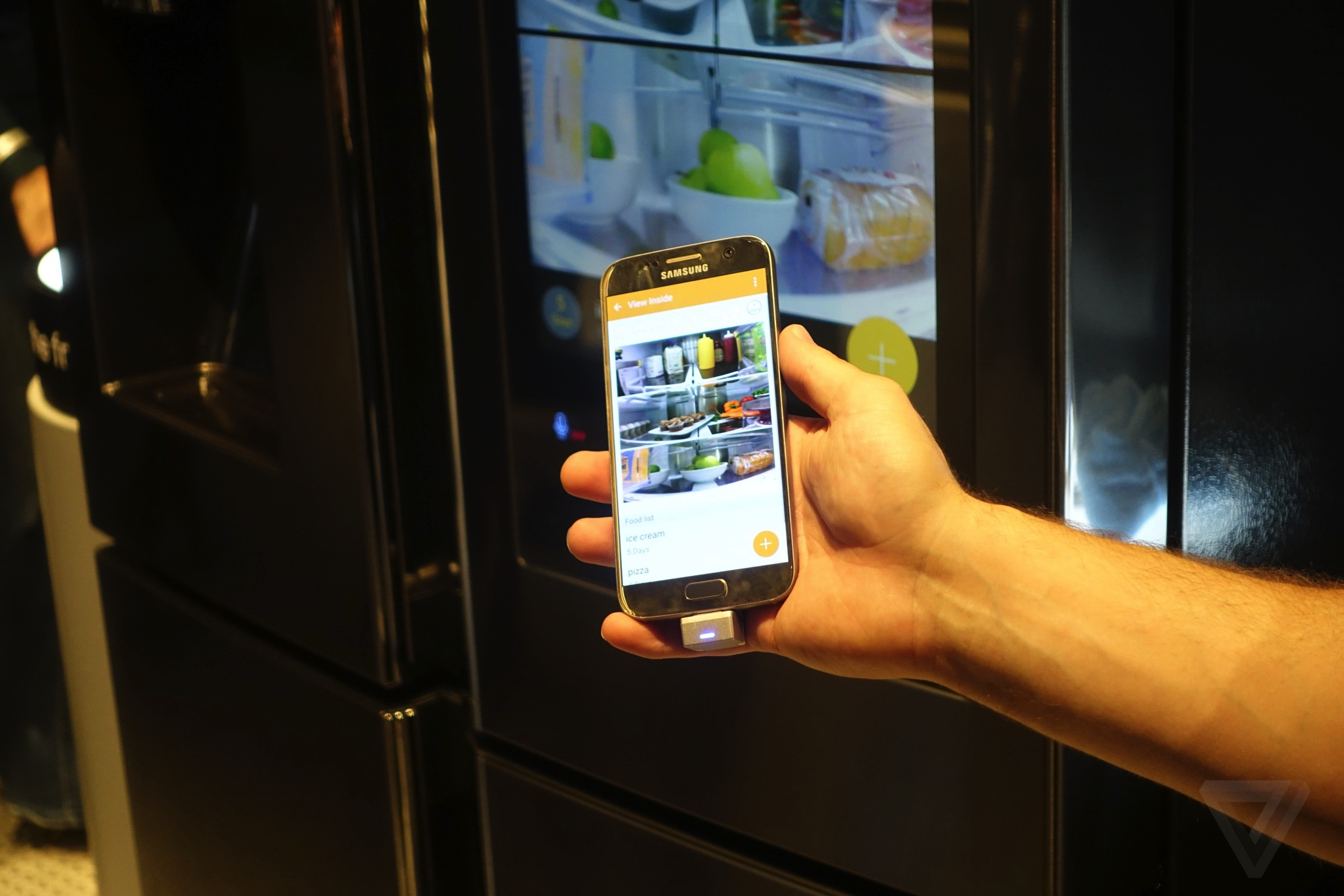 Samsung's Family Hub smart fridge is ridiculous, wonderful