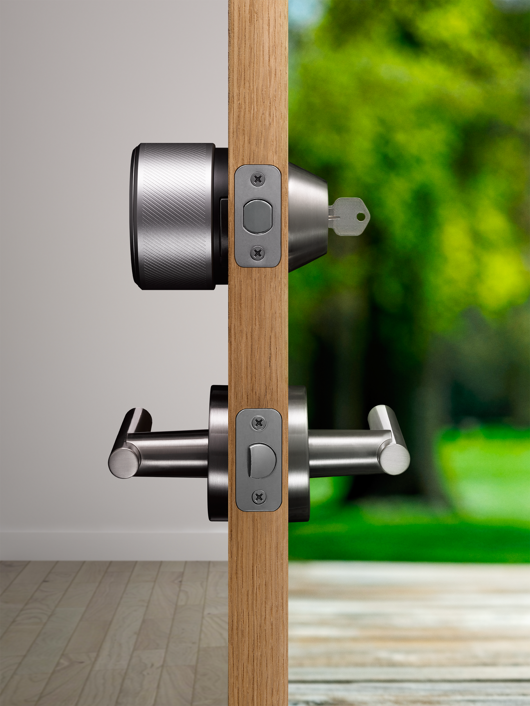 the august smart lock only goes on the inside of the door
