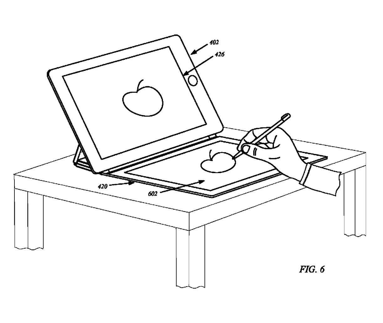 apple just got a patent for an ipad cover with its own flexible display