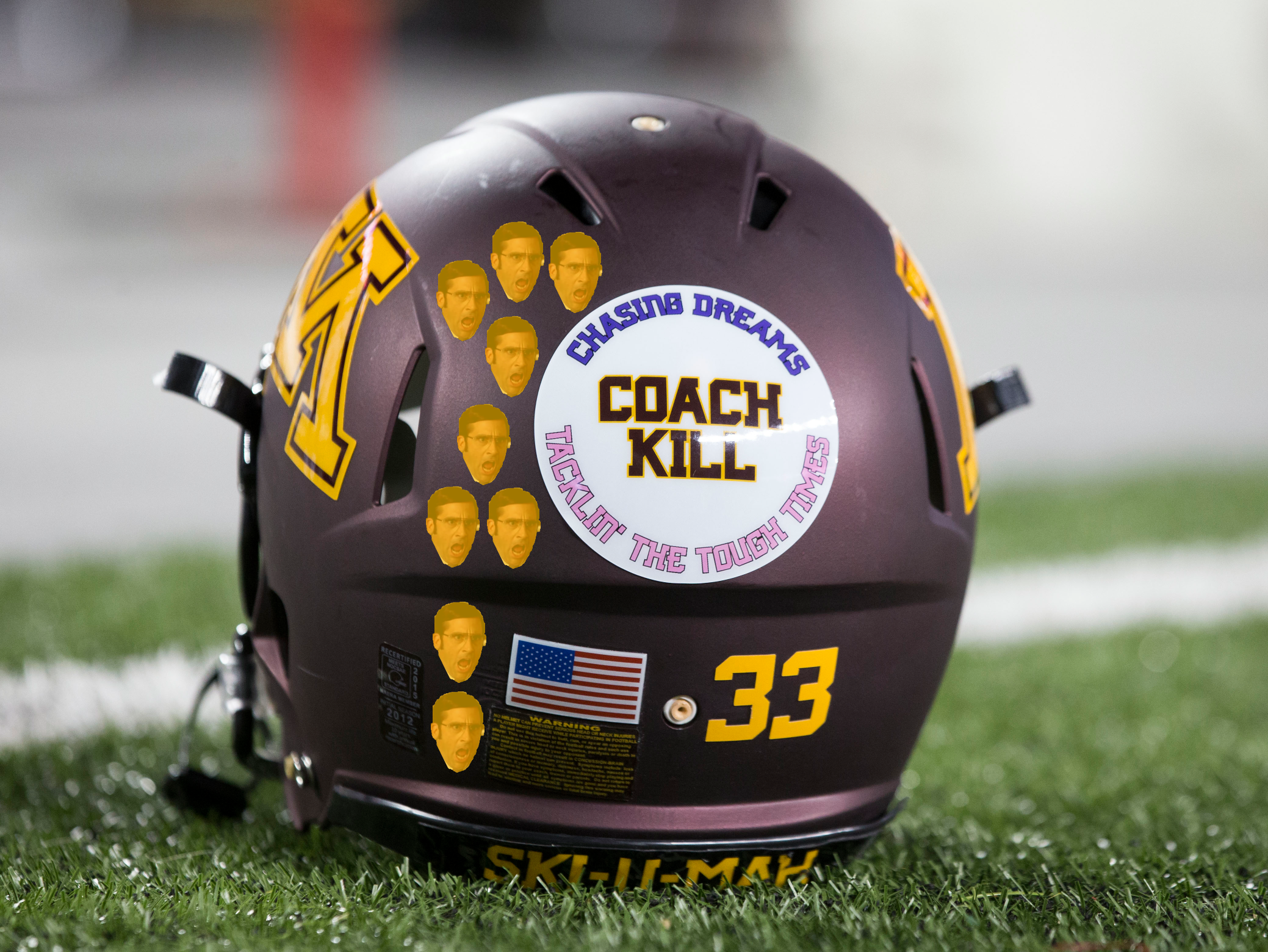 Dear Minnesota Football Heres Your Winning Helmet Sticker Design - Helmet decalsfootball helmet decals business art designs