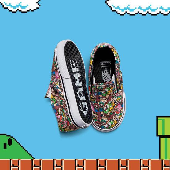 269ccbdc19 Slipon with Super Mario Bros.