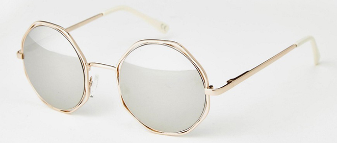 d00d3625e2d5 The hexagon details on these gold frames are a fun addition to the classic  round shape. Asos, $19.41
