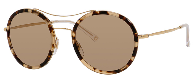 6da3c983c4c0 The tortoise plastic rim and eyebrow bar are a perfect update to the  original teashade. Gucci, $375