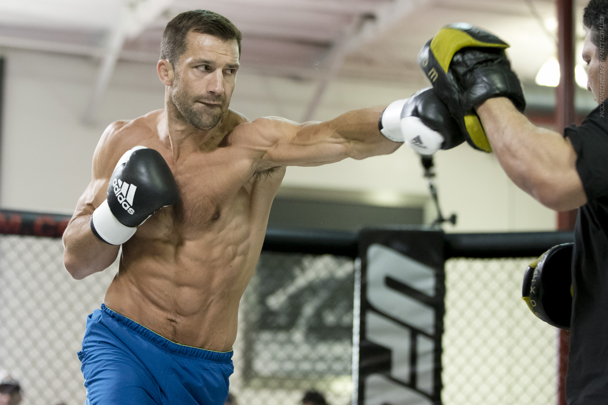 size 40 9b6c4 7a537 UFC 199 open workout photos Luke Rockhold jabs during the UFC 199 open  workouts from UFC Gym Torrance in Torrance, CA, on Wed., Jun. 1, 2016.