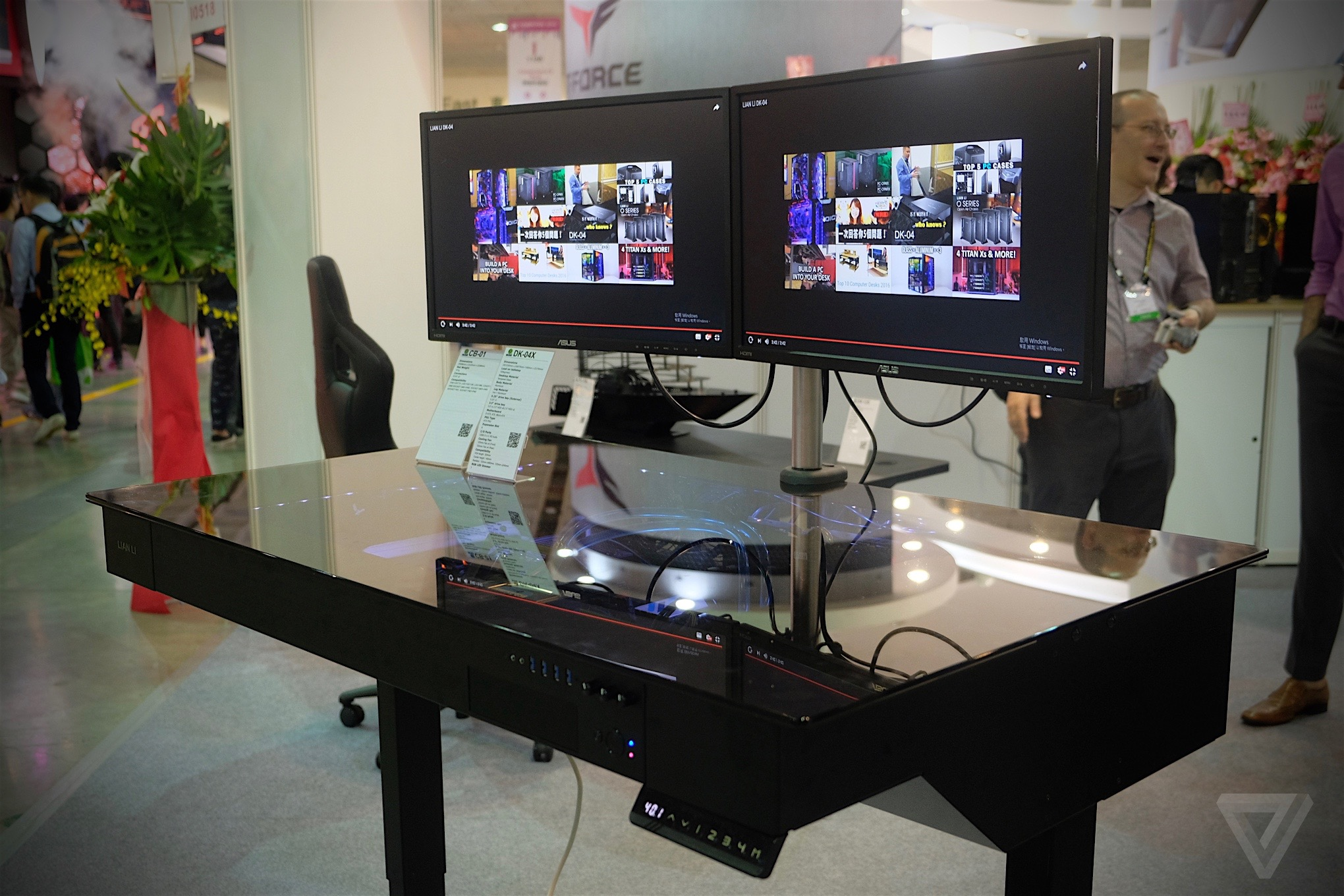 This motorized standing desk is actually a gaming PC - The Verge
