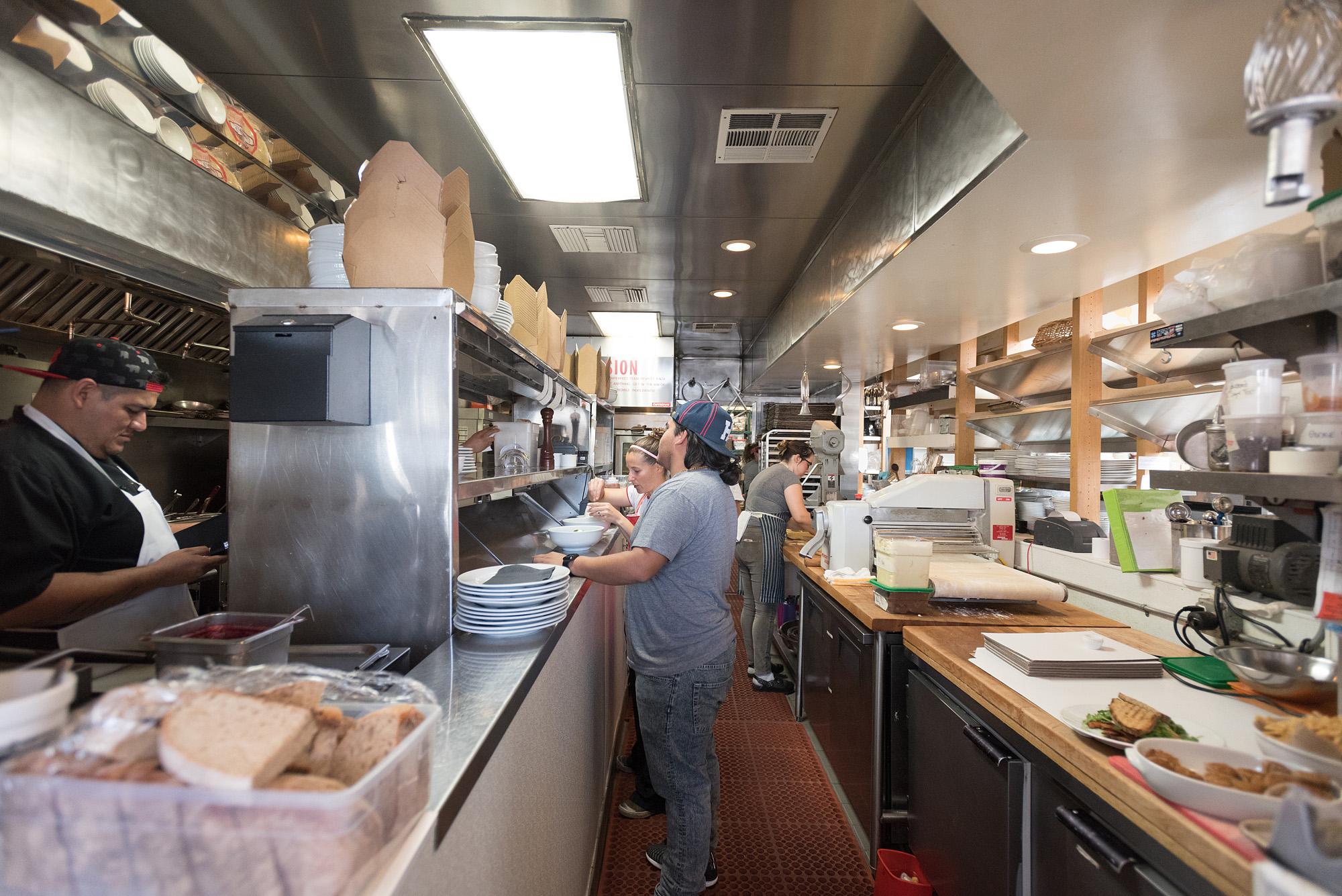Inside huckleberry in santa monica saturday 10 a m for M kitchen santa monica
