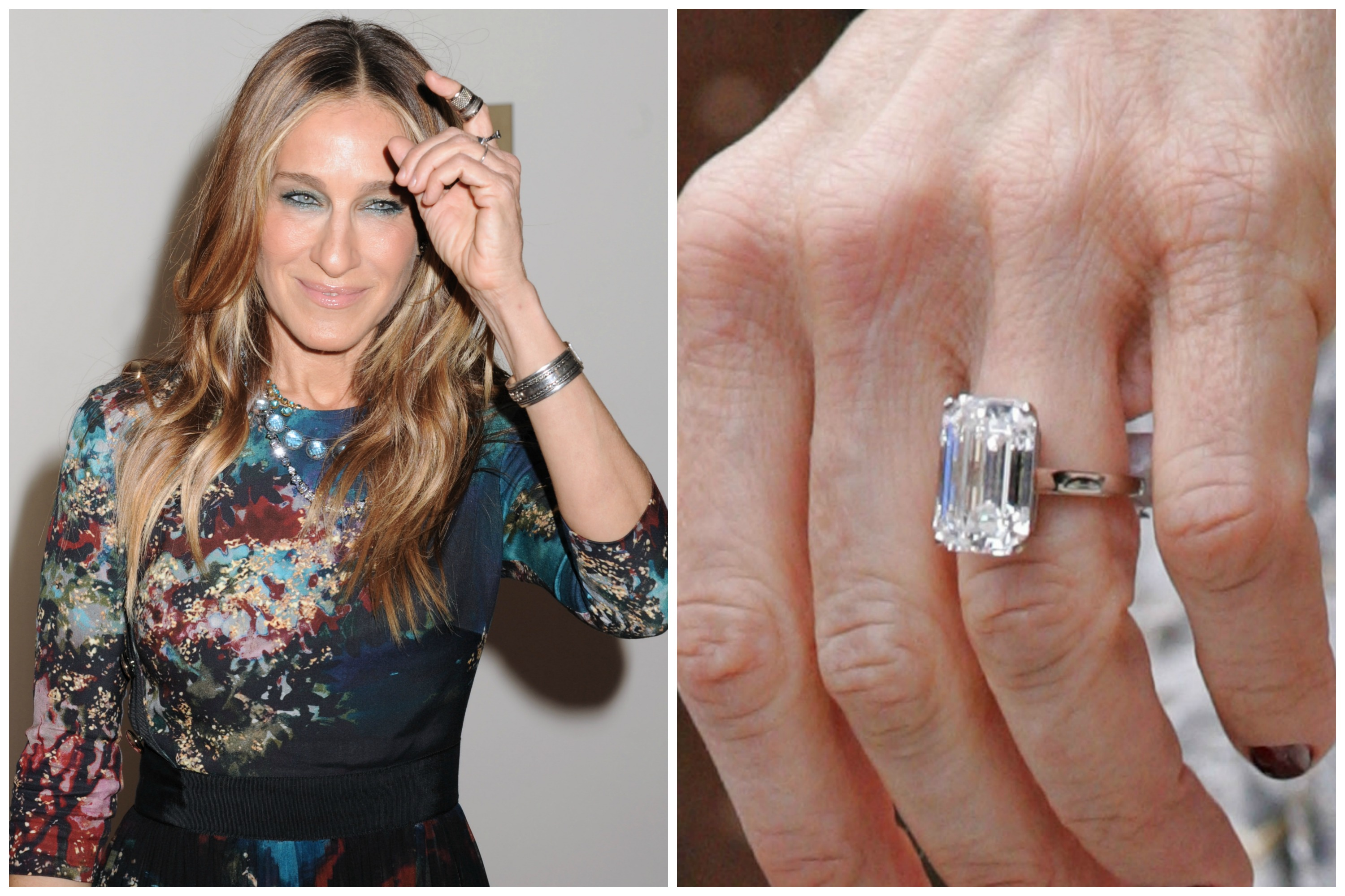 Matthew Broderick Gave This Timeless Emerald Cut Solitaire Ring To Sarah Jessica Parker Nearly Two Decades Ago The Has Been Married Since 1997