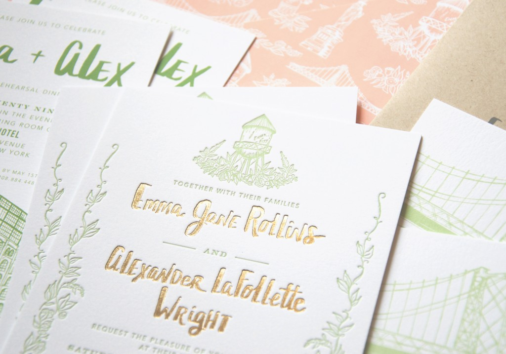 six new york city stationers for actually cool wedding invitations, Wedding invitations