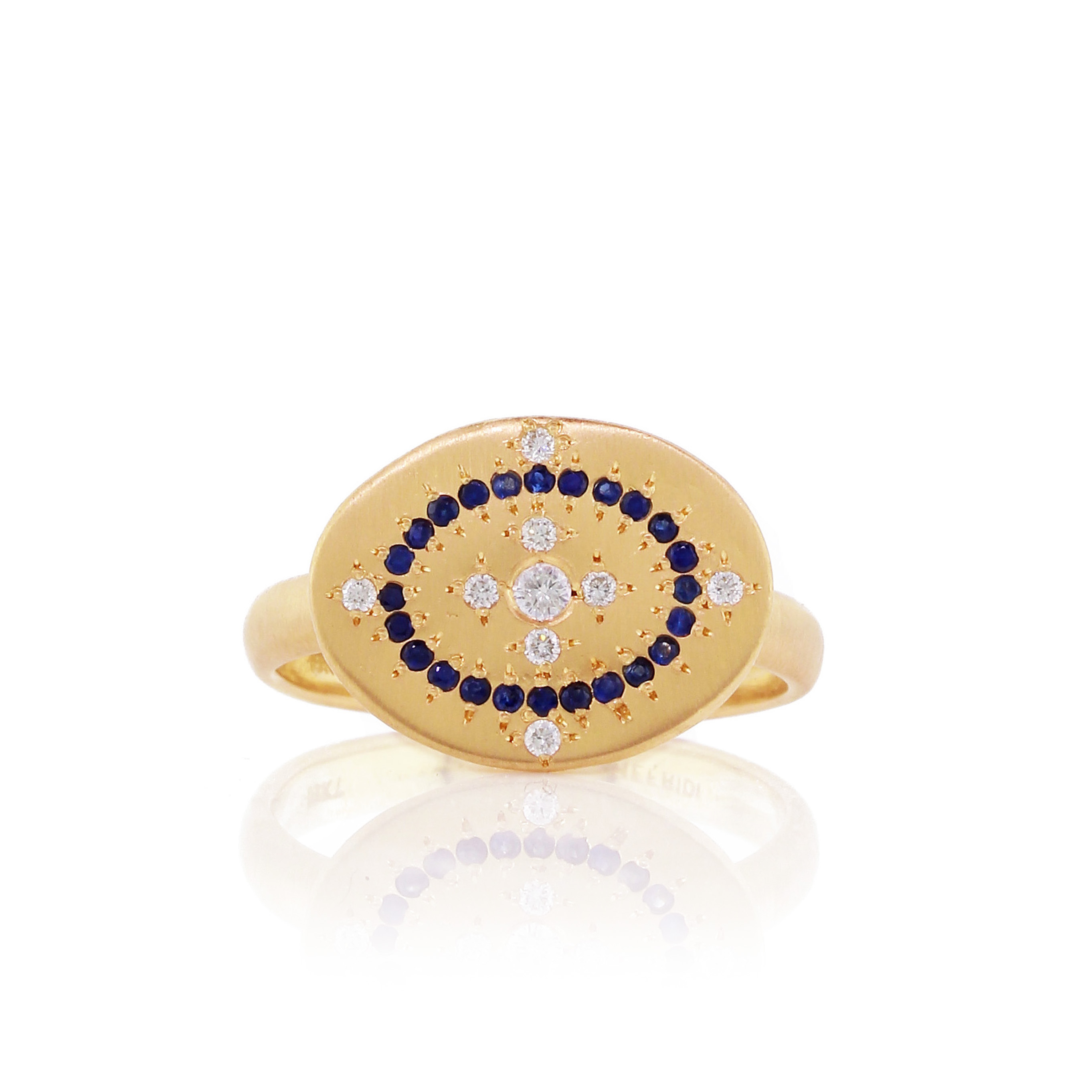 Diamond, Sapphire, And Gold Ring, $2,700