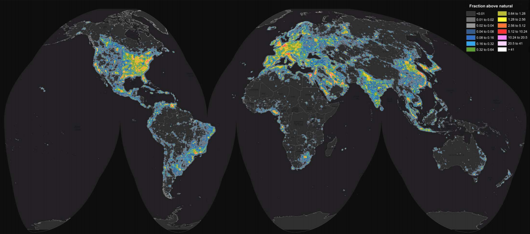 The Night Sky Is Vanishing Percent Of Americans Can No Longer - Us map night