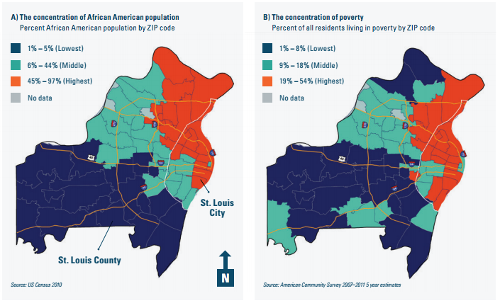 Map The Racial And Economic Divide In The St Louis Area Vox - Saint louis on the us map