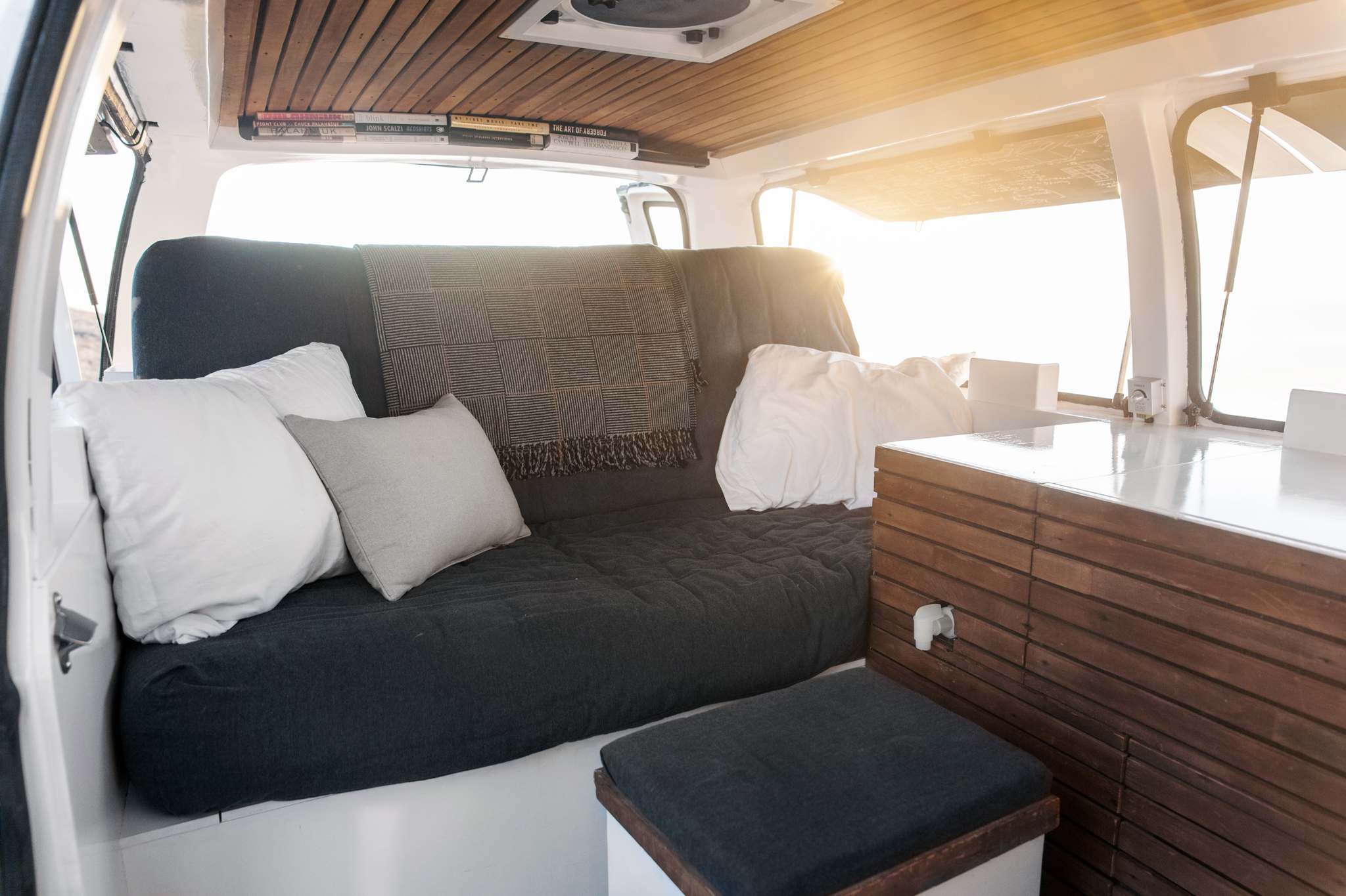 Tour A Chevy Van Turned Into Sleek Tiny Live Work Space