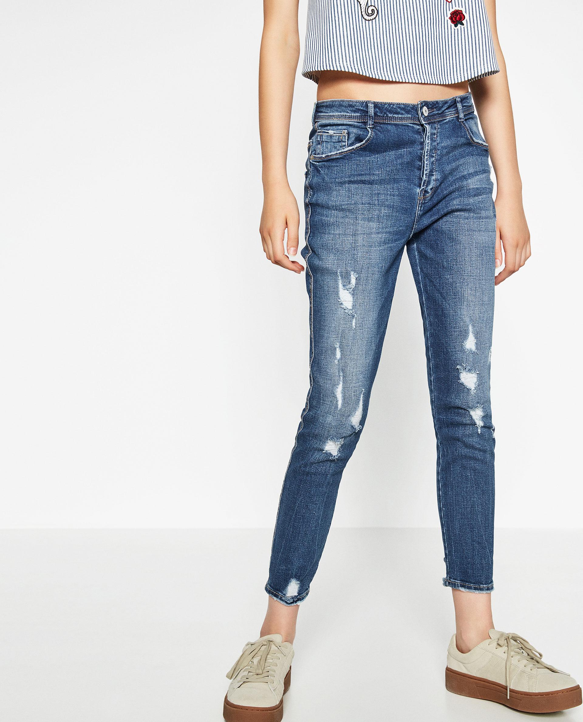 2fd11e60 High waist ripped jeans zara – Super Jeans in dieser Saison