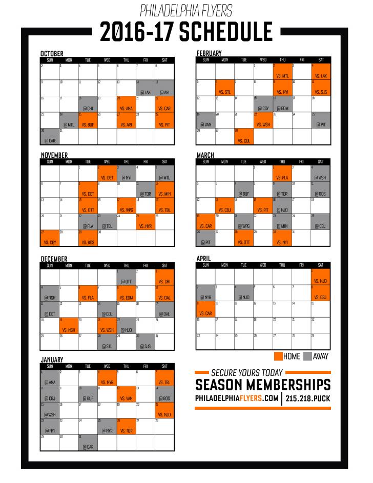flyers downloadable schedule