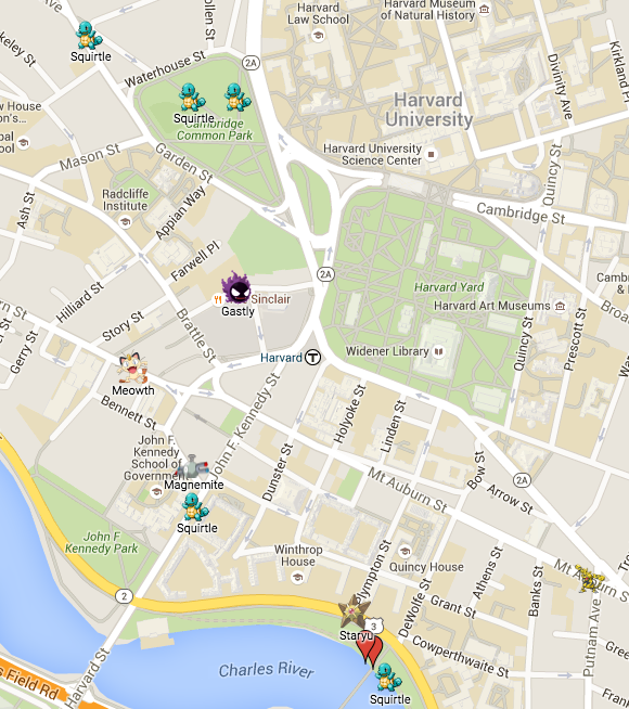 Boston Has An Absurdly Detailed Pokémon Go Map Polygon - Map of harvard university