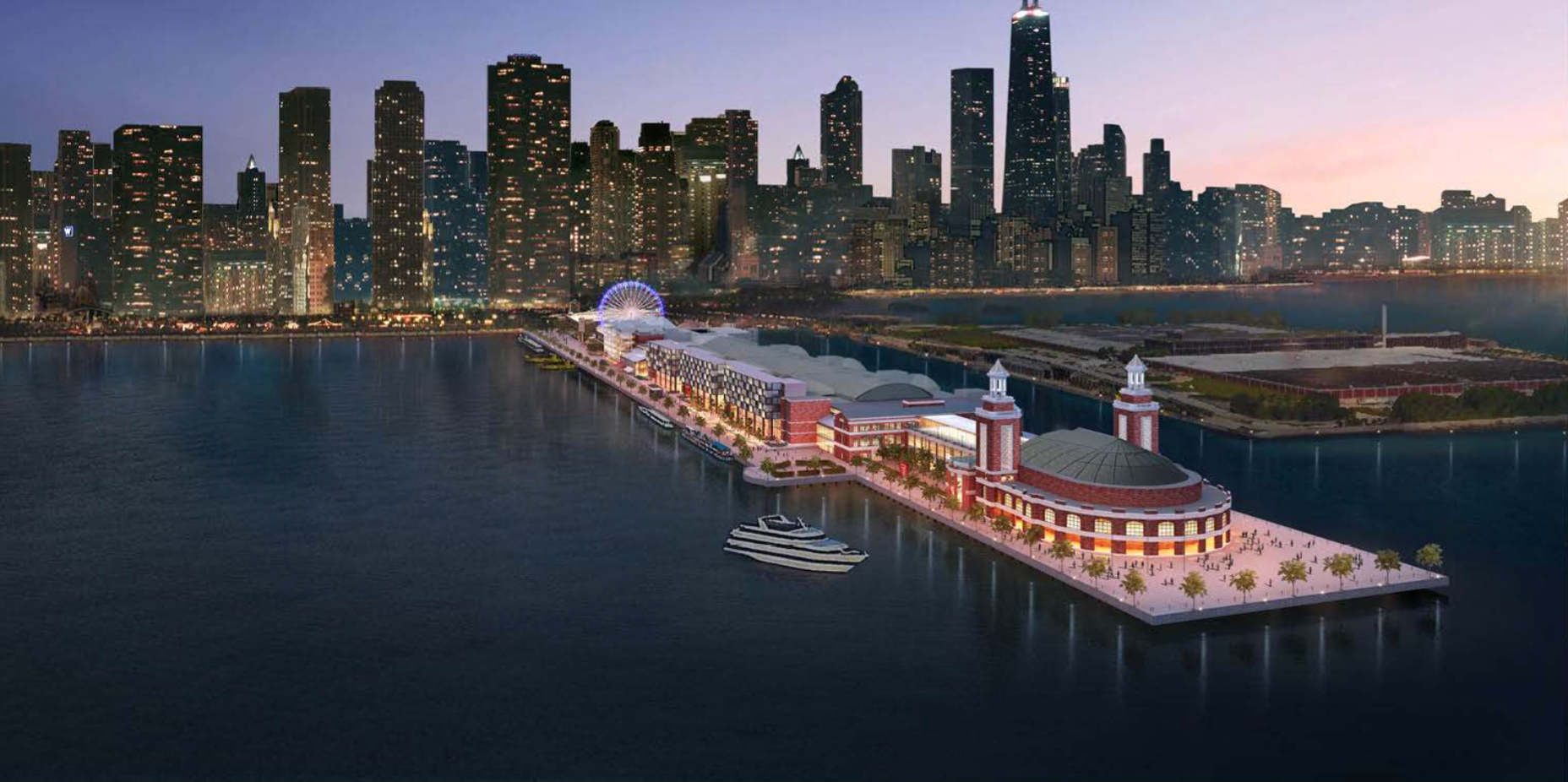 Navy Pier Officially Reveals Proposed Hotel Lake Michigan