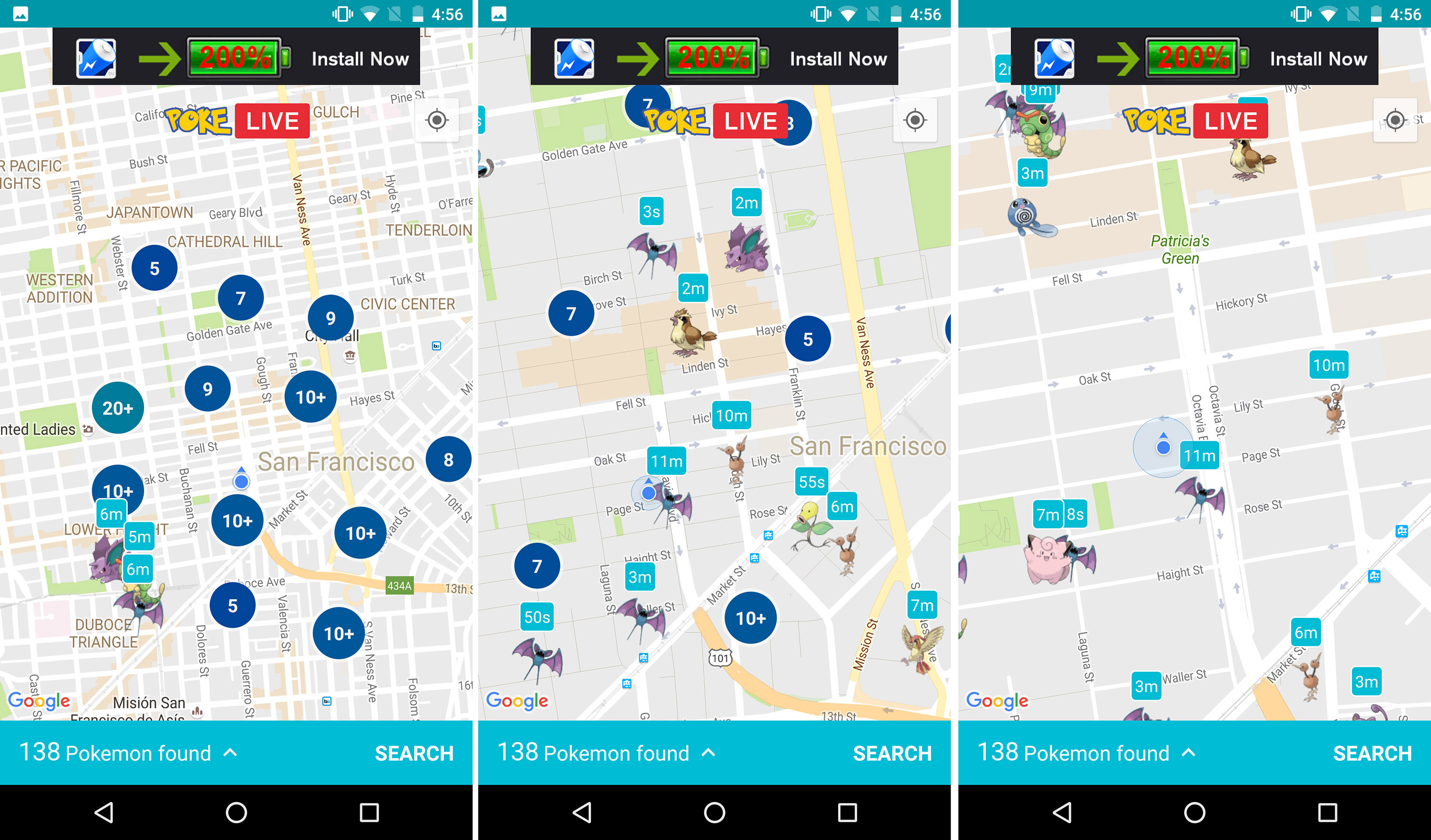 This android app is the best way to find pokmon on the go the verge this android app is the best way to find pokmon on the go gumiabroncs Choice Image