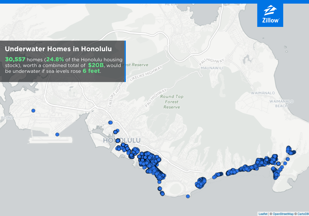 Sea Level Rise Will Put  Trillion Worth Of US Homes In - Florida map sea level rise