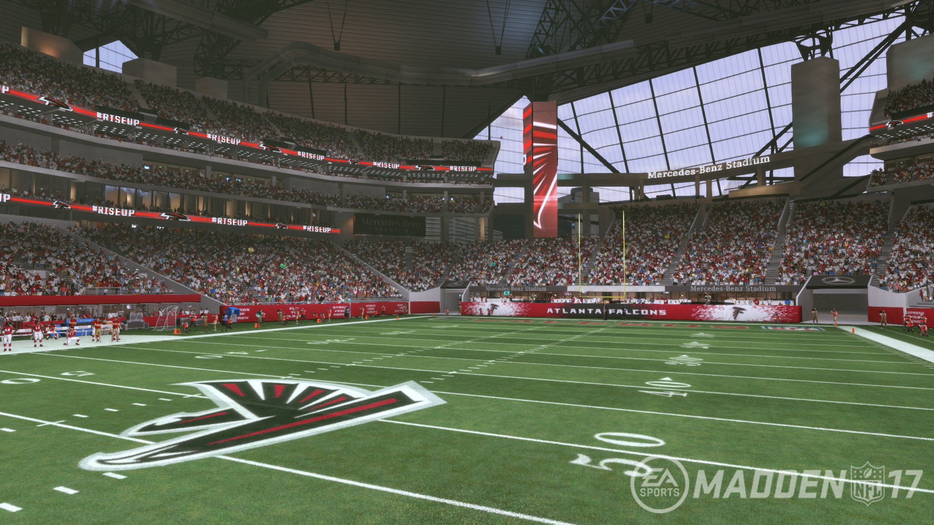Mercedes benz stadium in madden nfl 17 the falcoholic for Mercedes benz franchise