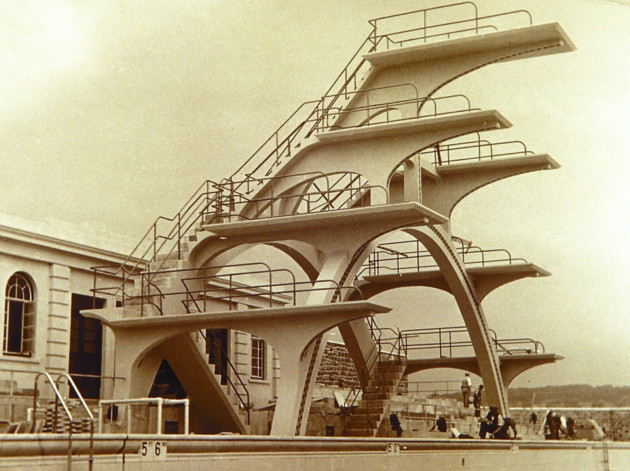 7 vintage diving boards for summer s last splash curbed - Hotels weston super mare with swimming pool ...