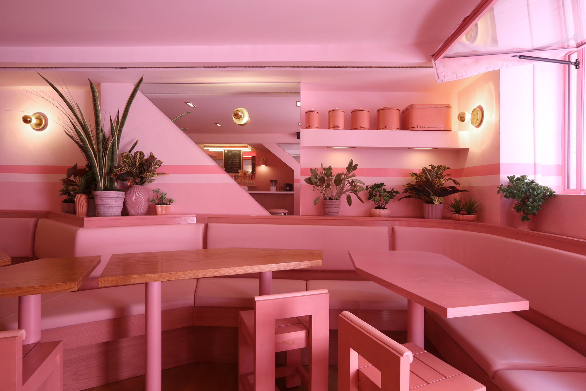 Inside pietro nolita the all pink restaurant from two