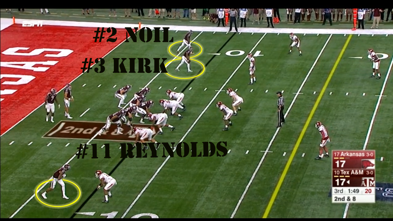 Arkansas Defense: Lined up in an under front with both tackles over the guards. The ends were shifted into an under front with a 5 technique to the ...