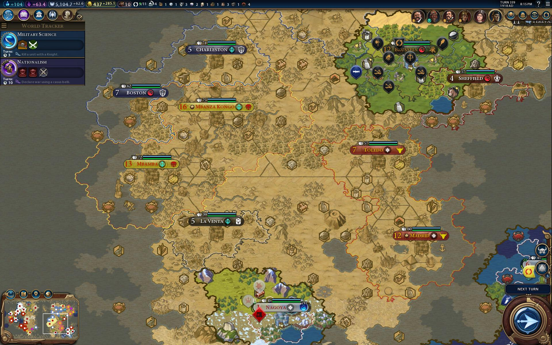 Hours In Civilization VI My Ongoing War With Bazookawielding - Japan map civ 5