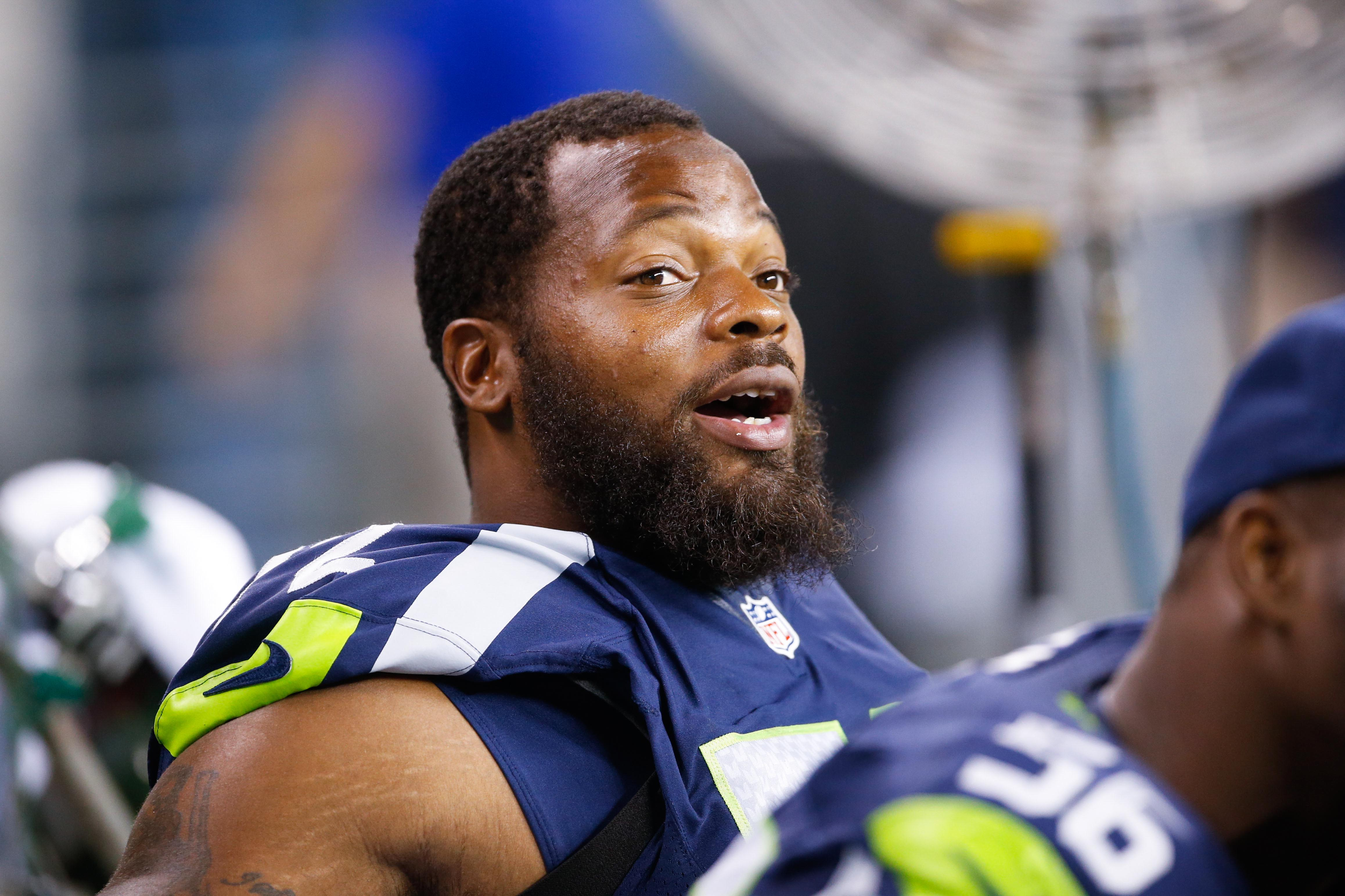 Michael Bennett s tiny shoulder pads are meant for a kicker