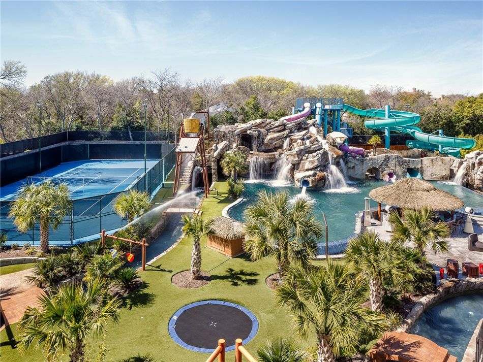 $32M Texas Mansion Has Waterpark, In Ground Trampoline In Backyard   Curbed
