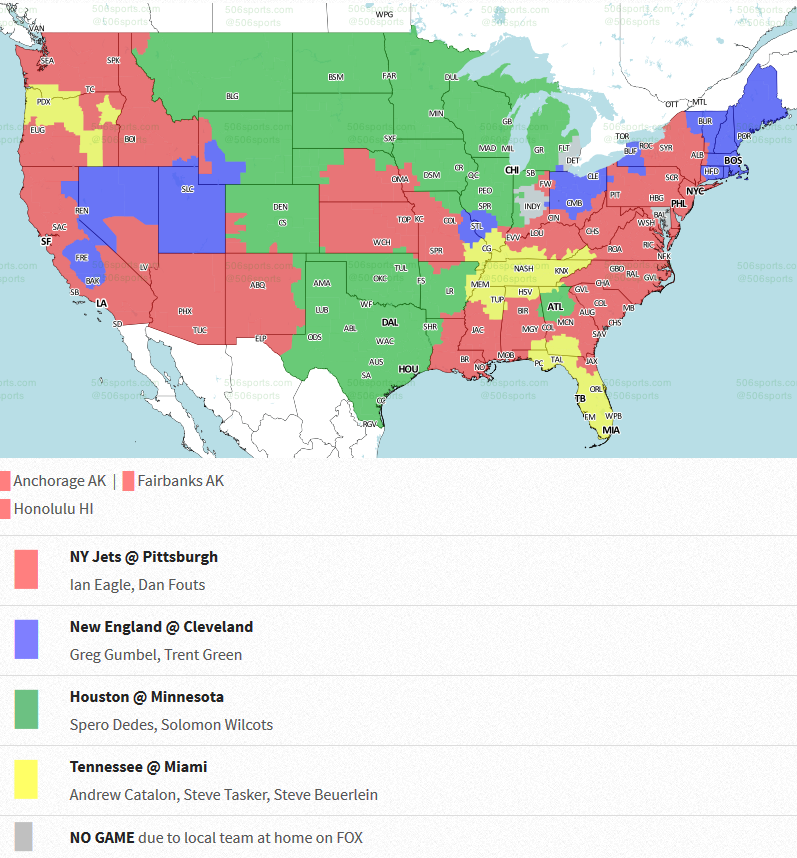 Note Coverage Areas Are Subject To Change The Map Is From 506sports Com Click Here To See All Of Their Nfl Coverage Maps This Week