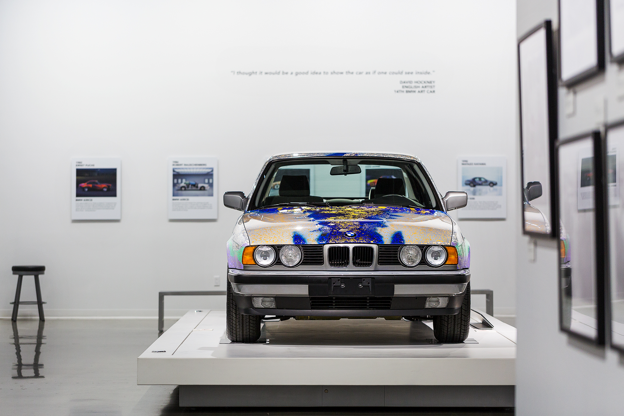 What It S Like To Take An Exclusive Ride In A Bmw Art Car The Verge