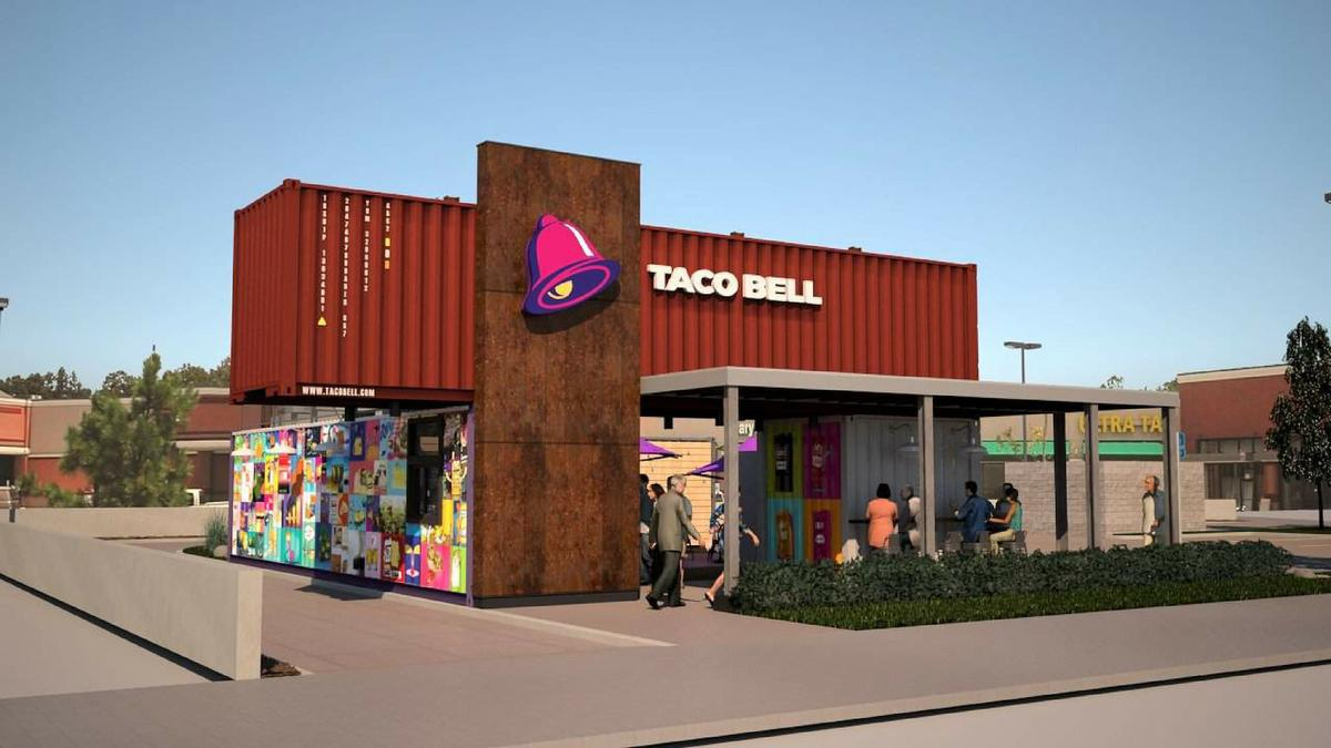 Shipping Container Shipping Container Taco Bell Lands In Southern California Eater