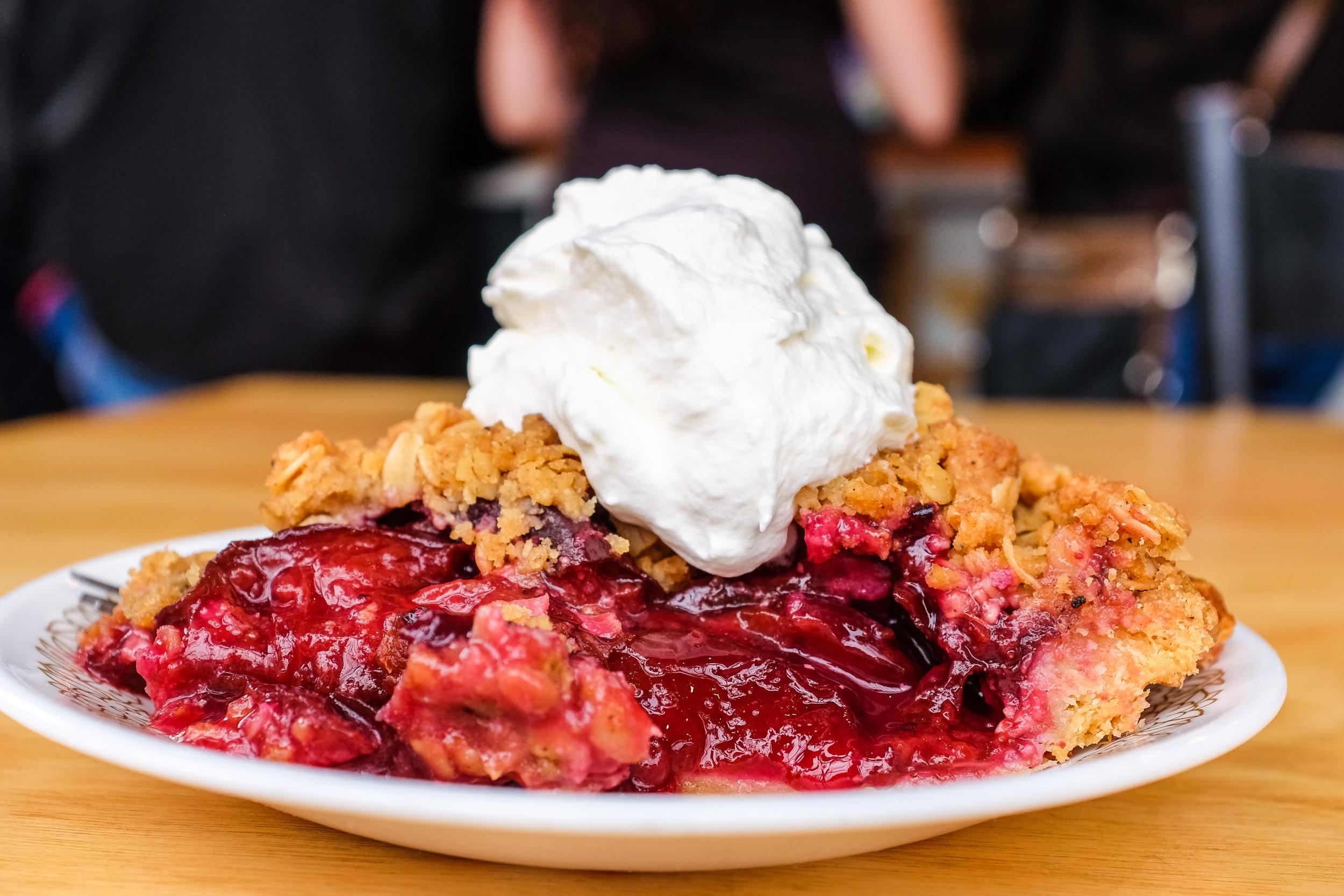 Plum crumble pie, Sister Pie, Detroit