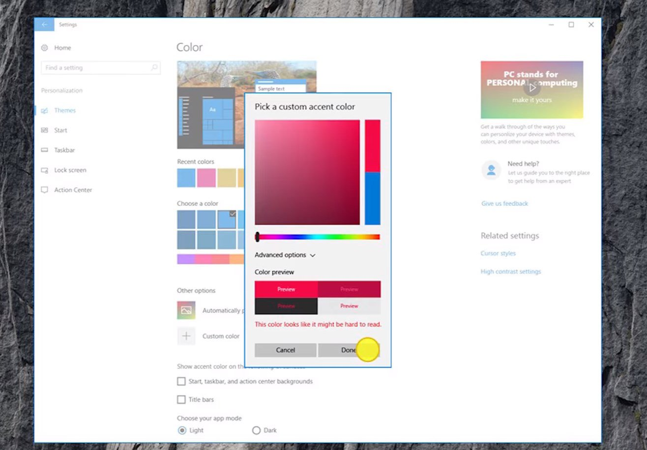 Wallpaper maker for windows 10 - Accent Colors Windows 10