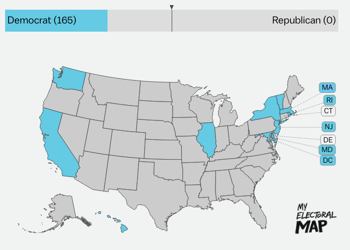 Why The Electoral College Is The Absolute Worst Explained Vox - Electoral college us map