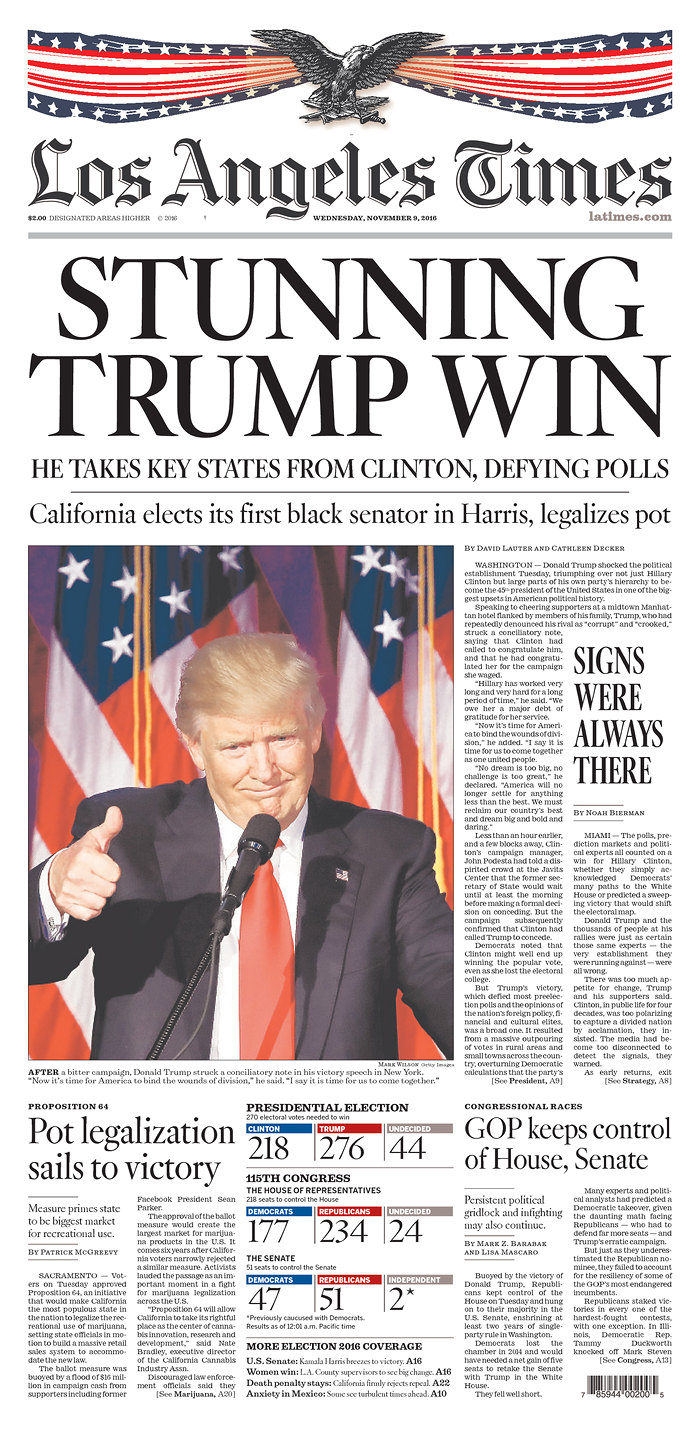 What Front Pages Of Us Newspapers Look Like The Morning