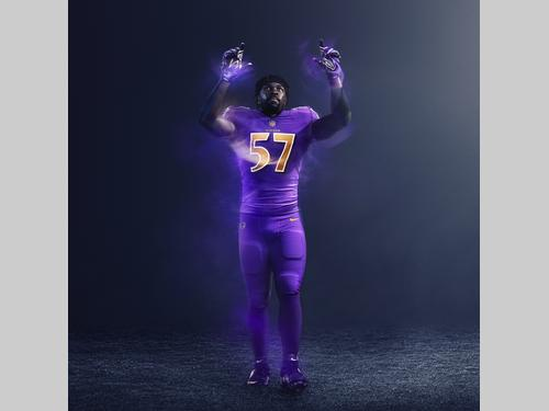 4157f457c NFL ravens color rush Nike player jersey 2016