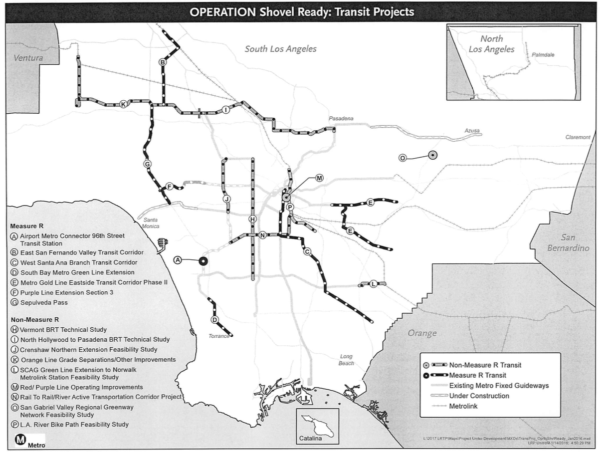 Here Are The Shovel Ready Projects Measure M Will Fund First - Los angeles metro expansion map