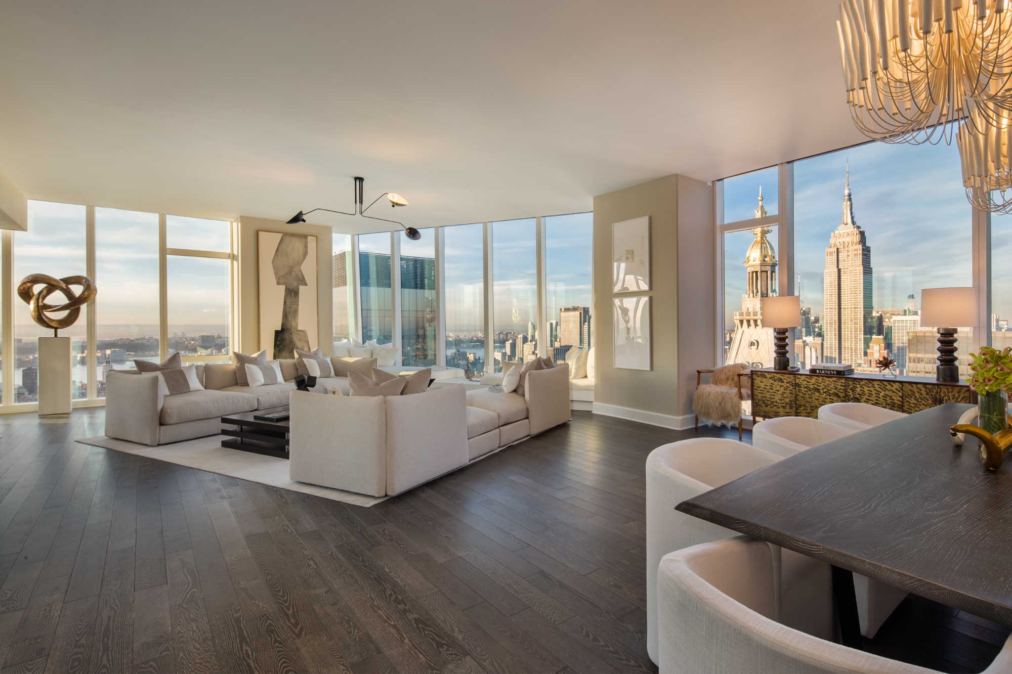 Flatiron s tallest tower reveals its stunning 55th floor for Million dollar apartments nyc