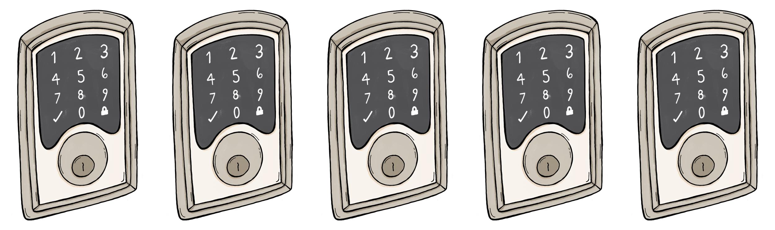Smart locks 101 pros and cons to know curbed illustrated keypad locks rubansaba