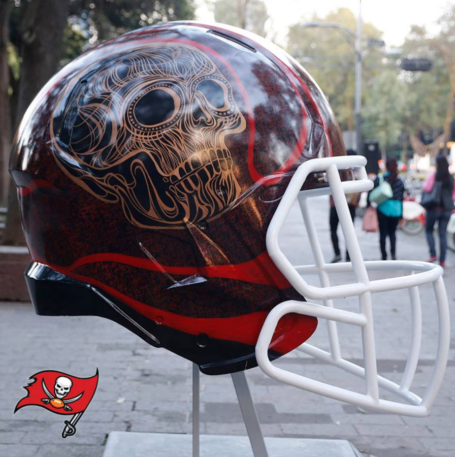 these special nfl helmets done by mexican artists for