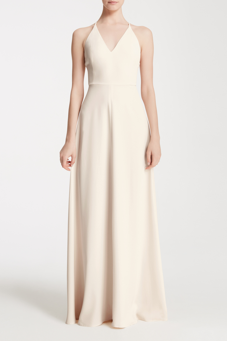 Pretty bridesmaid dresses that arent expensive racked a light champagne colored bridesmaid dress ombrellifo Image collections