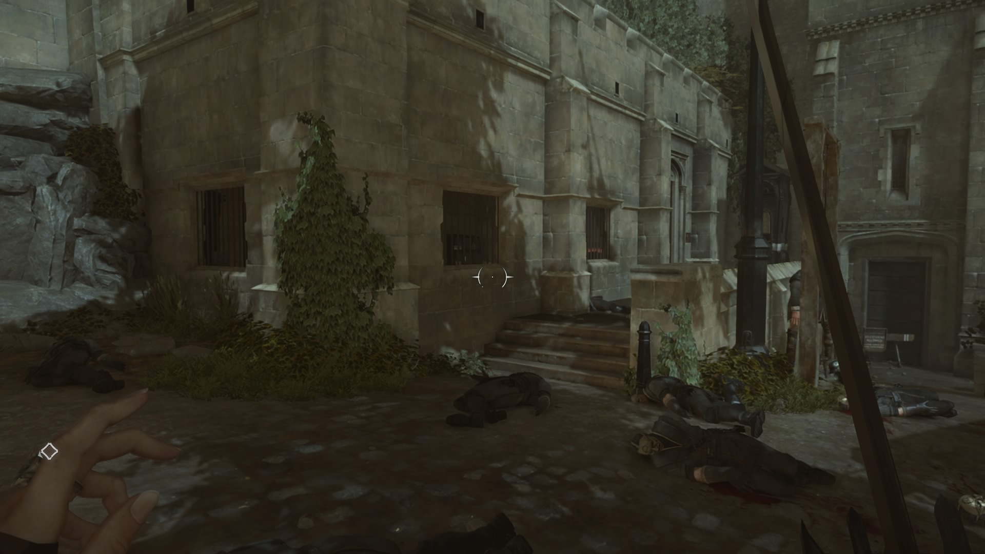 dishonored how to get past tower watchlights