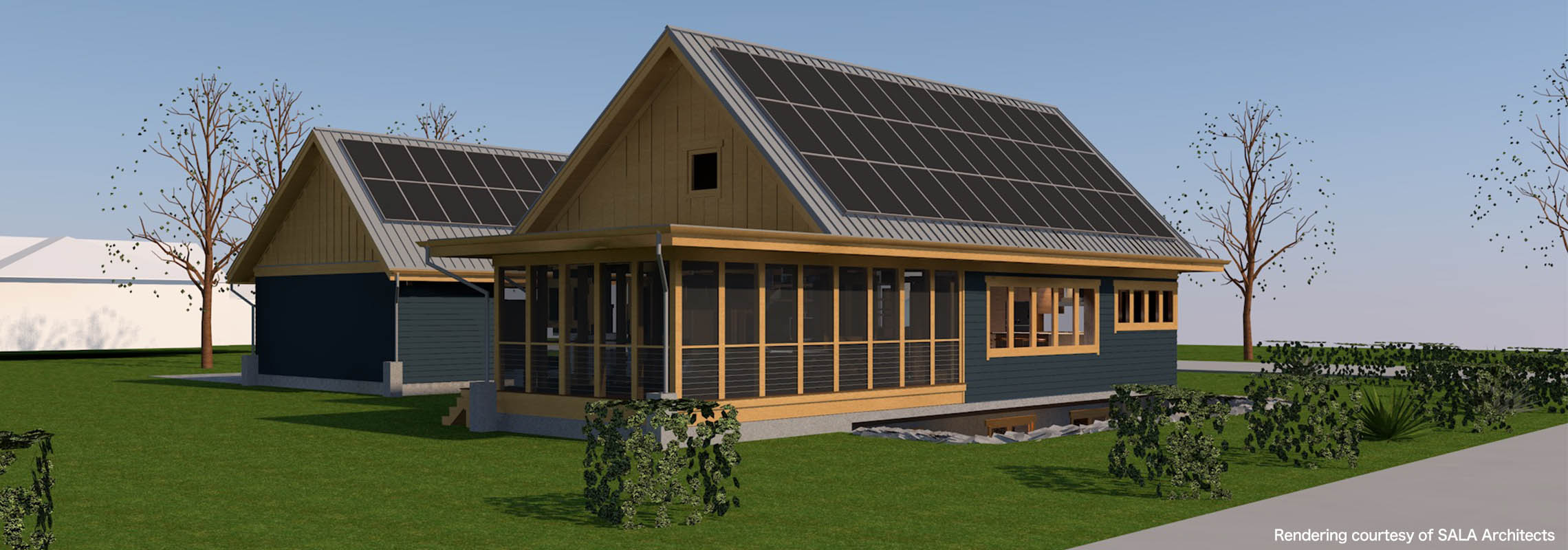 This sustainable suburban home can power a pair of electric cars, too