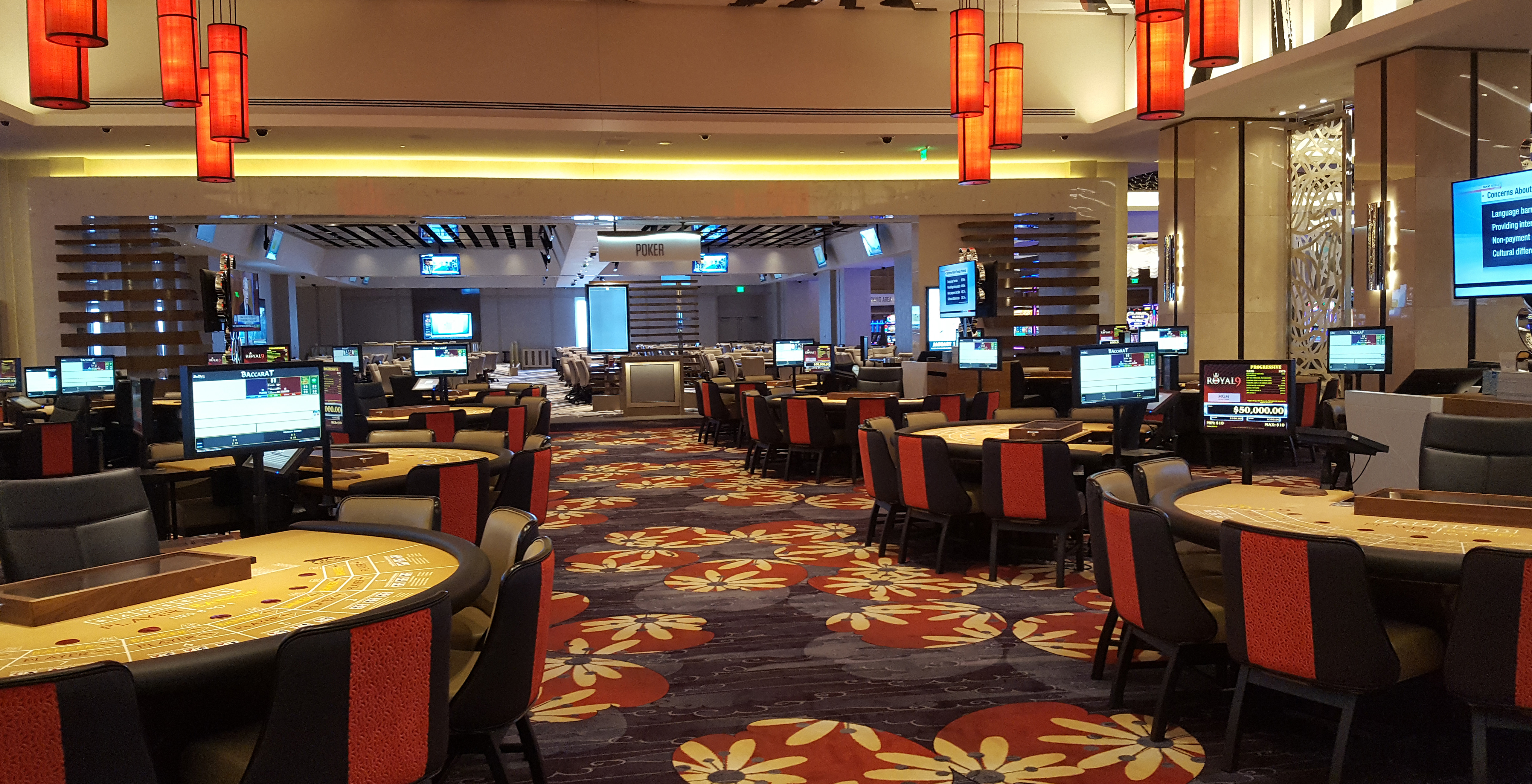 inside mgm national harbor u2019s casino  atrium  and retail