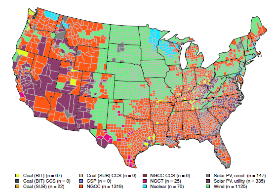 This interactive map shows why renewables and natural gas are taking over the US