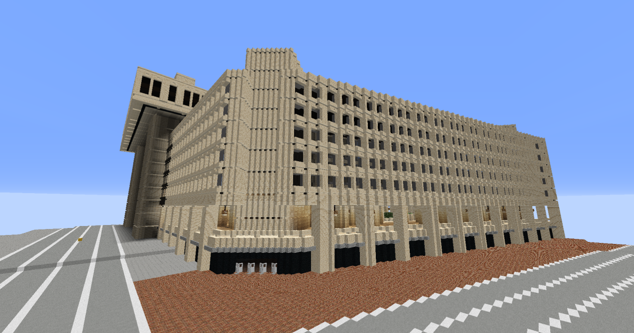 Finally someone is building a model of DC in Minecraft Curbed DC