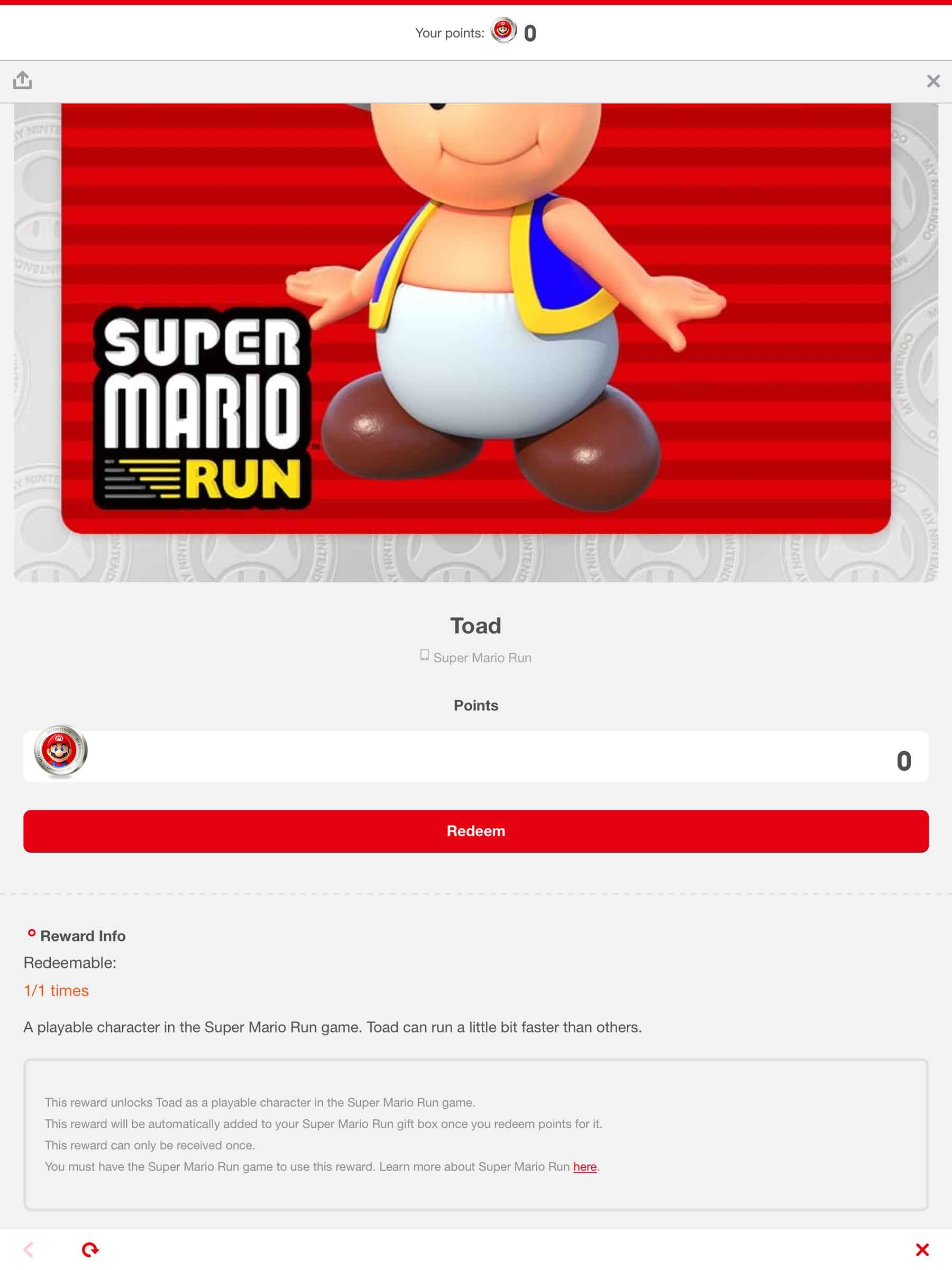 how to get toad in super mario run